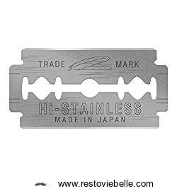 Feather Hi-stainless Platinum Double Edge Razor Blades - Best Double Edge Razor Blades