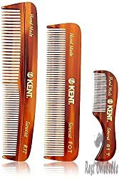 Kent Men's Handmade Beard Comb, Set of 3