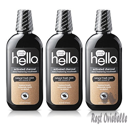 Hello Oral Care Activated Charcoal Mouthwash