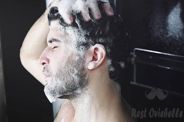 man washing his hair. - beard shampoo s and pictures Beard Shampoo And Conditioners