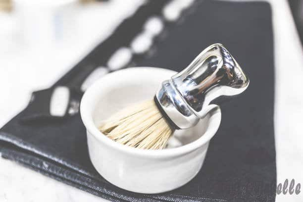 shaving brush in bowl barbers men hairdresser concept. - shaving bowls s and pictures Type Material Of Shaving Bowl