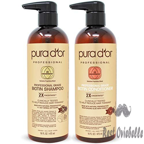 Pura D'Or Professional Grade Biotin Anti-Hair Thinning Shampoo and Conditioner Set