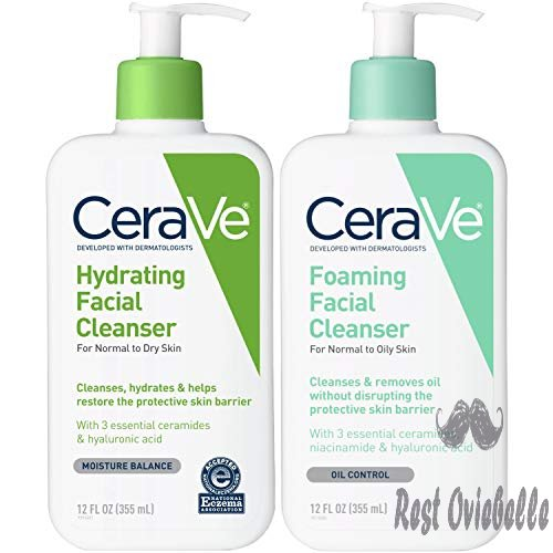 CeraVe Foaming Facial and Hydrating Cleanser Two-Pack