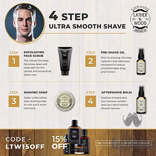 Lather and Wood Face Moisturizer for Men 1