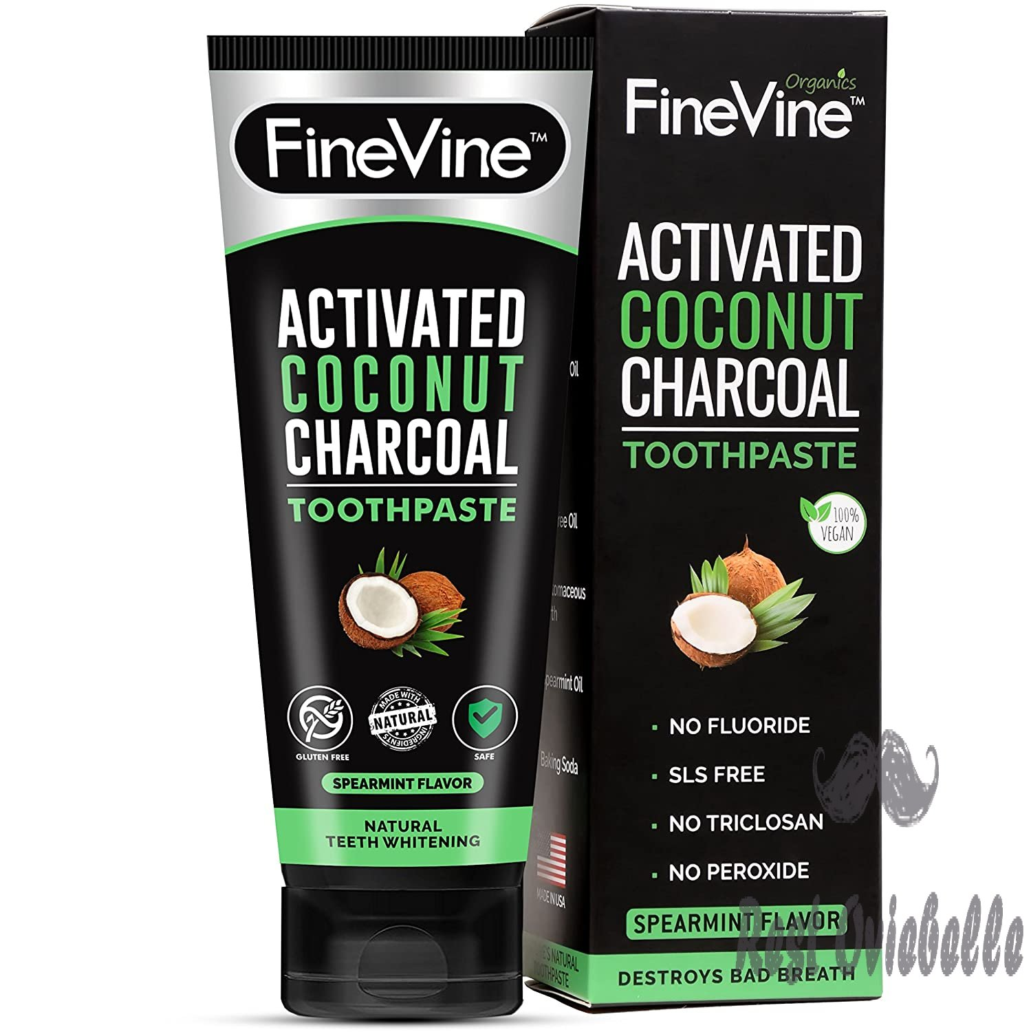 100% Natural Charcoal Teeth Whitening