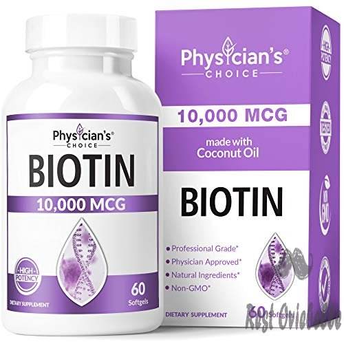 Biotin 10000mcg with Coconut Oil