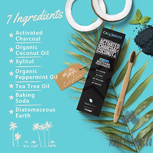 Cali White Activated Charcoal Organic Coconut Oil Teeth Whitening Toothpaste 1