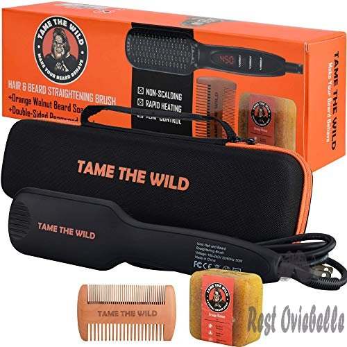 Tame's Elite Beard Straightener Brush