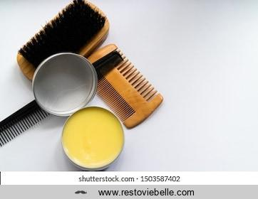 Beard Comb and Brush and beard balm