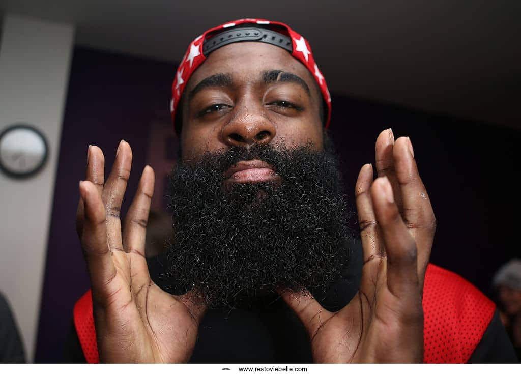 James Harden Shows Off Big Beard